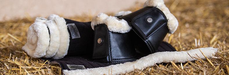 Faux Fur Hufglocken und Bandagierunterlagen
