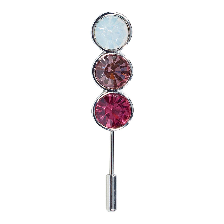 BUSSE Plastronnadel Tricolor SILBER-ROS | 5,5 cm