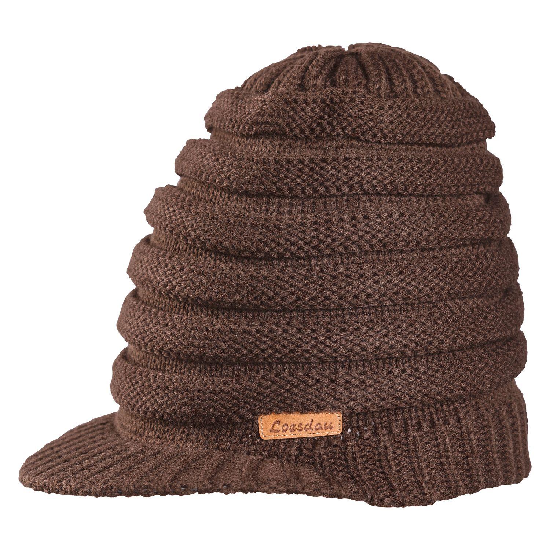 Long-Mütze mit Schild