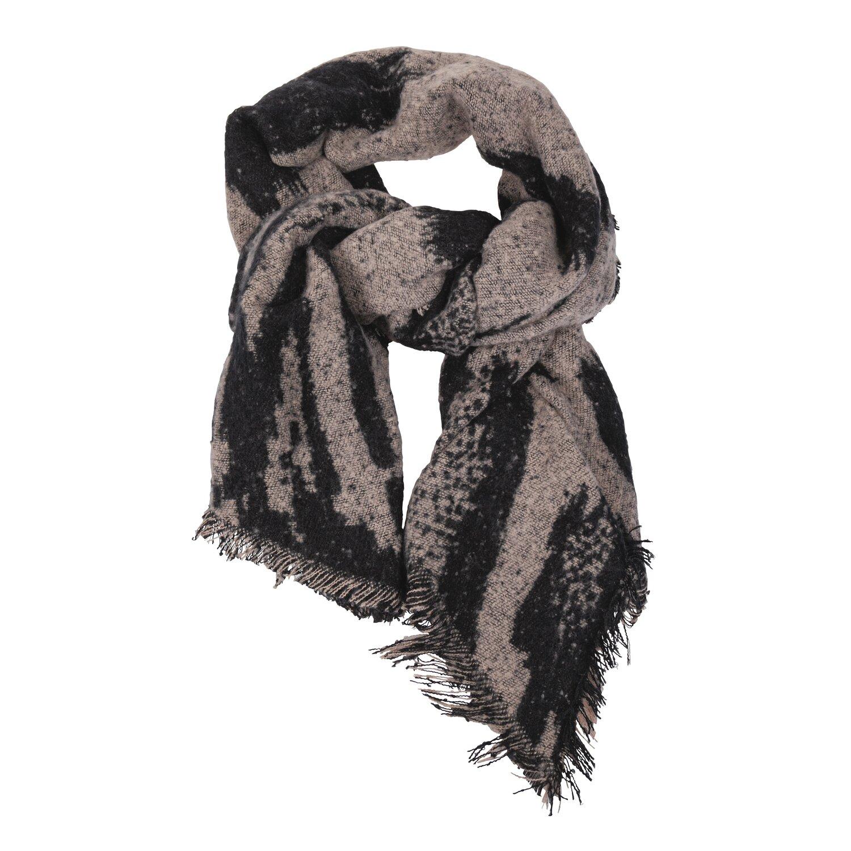 black forest Schal mit Muster black/taupe | Einheitsgröße