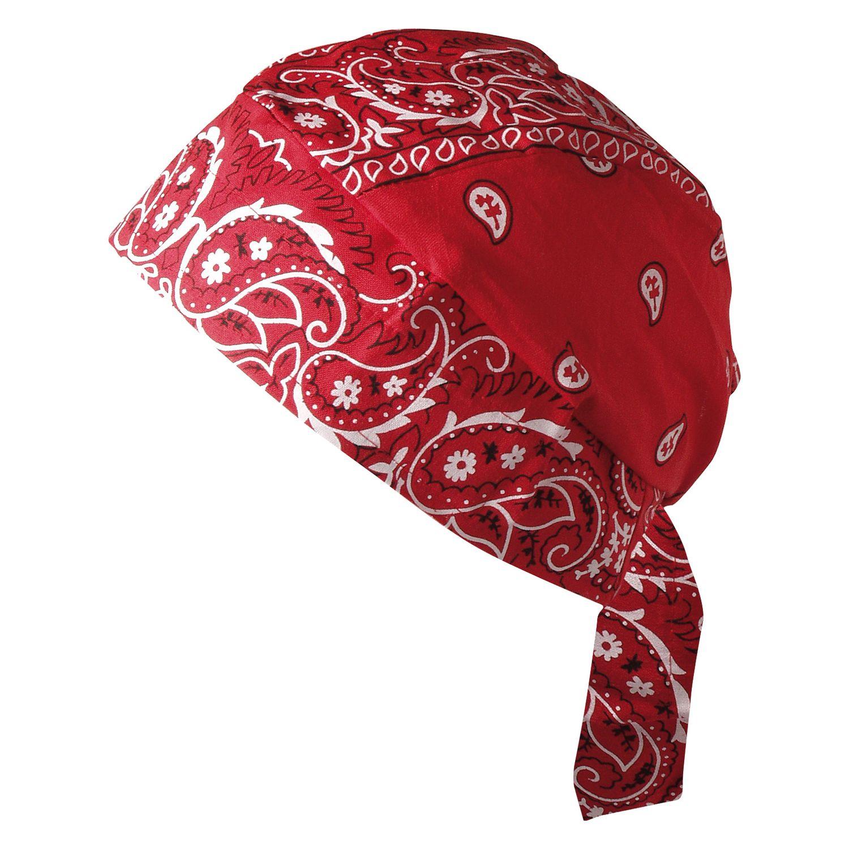 Bandana Cap mit Stirnschweißband rot