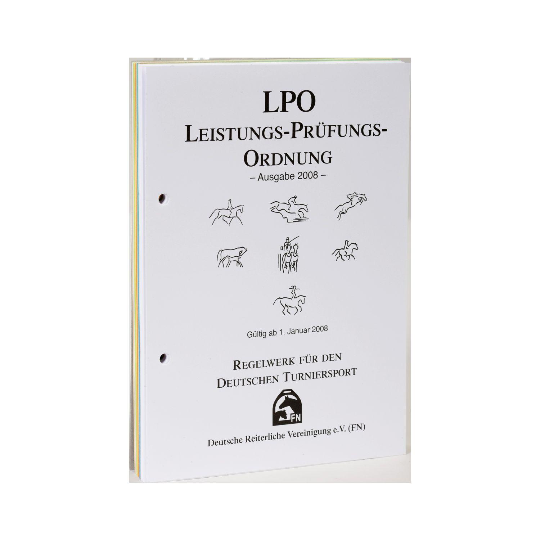 LPO Leistungs-Prüfungs-Ordnung (ohne Ordner), FNverlag