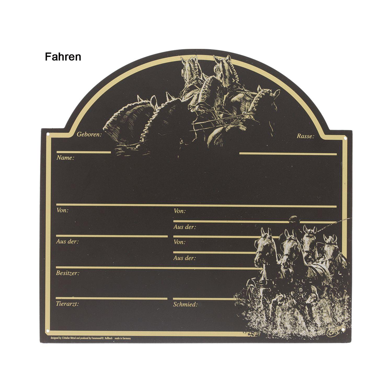 Stalltafel, mit Pferdemotiv
