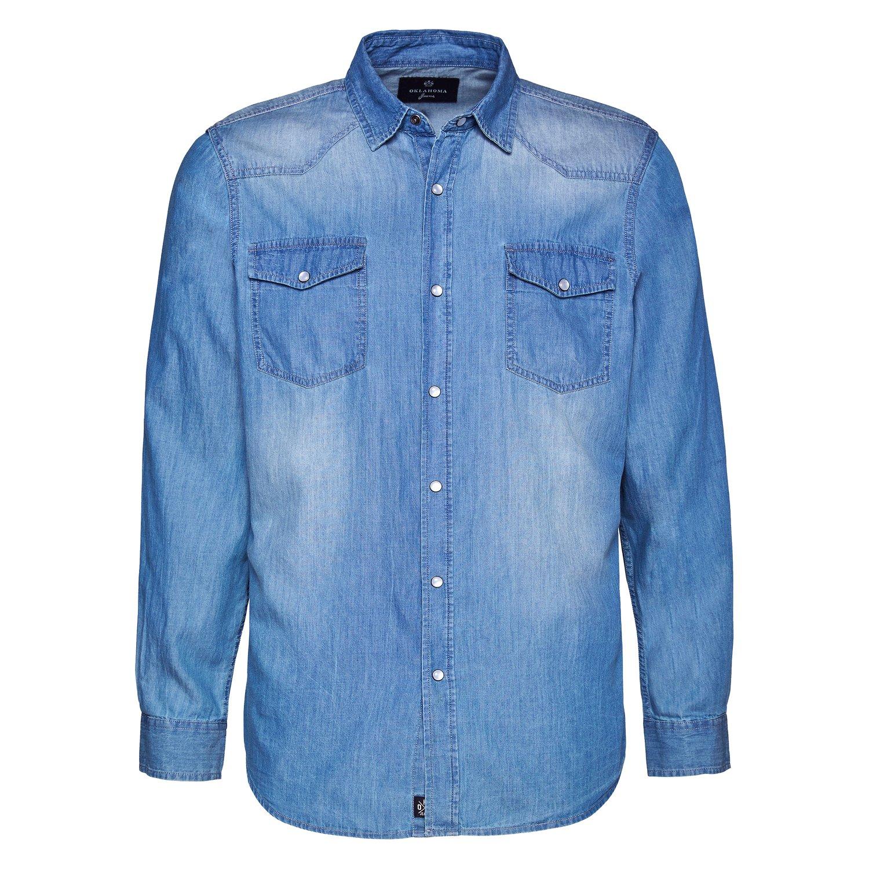 OKLAHOMA Jeans-Hemd blue bell | S