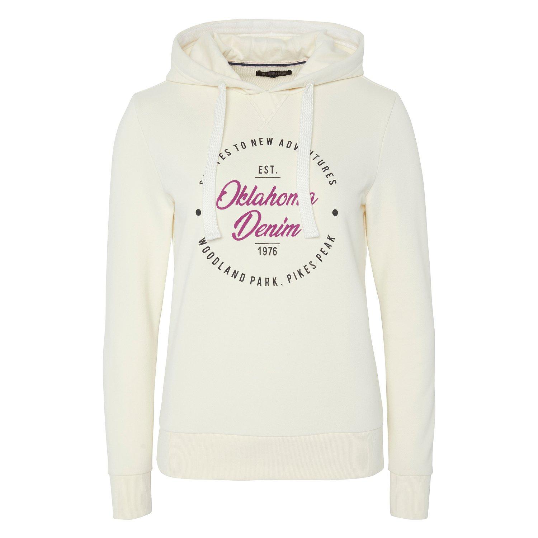 OKLAHOMA Premium Denim Hoodie white/purple | XS