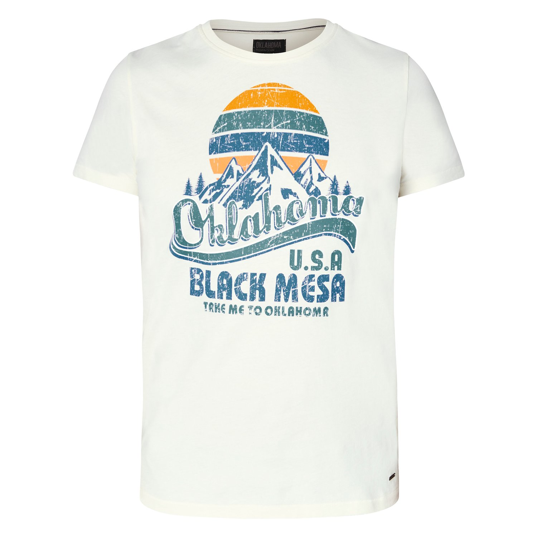 OKLAHOMA Premium Denim T-Shirt whisper white | XXXL
