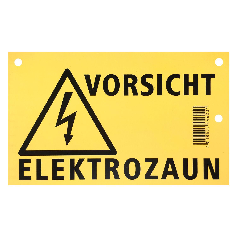 Warnschild WARNING Elektrozaun Hinweisschild Achtung Weidezaun zum Einhängen