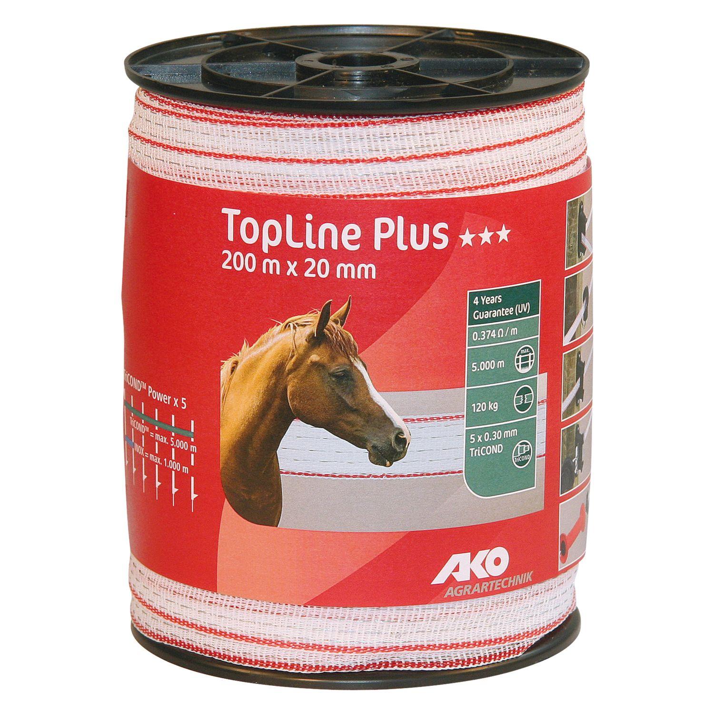 AKO Elektroband TopLine Plus, 20 mm, 200 Meter