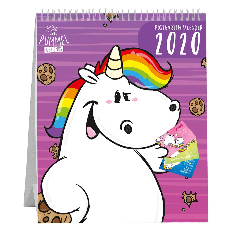 PUMMELEINHORN Postkartenkalender 2020
