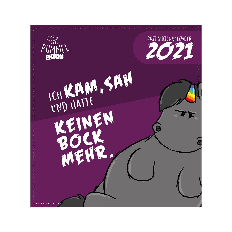 PUMMELEINHORN Postkartenkalender 2021