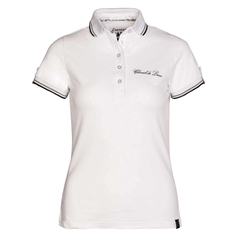 Cheval de Luxe Poloshirt Scara white | XL