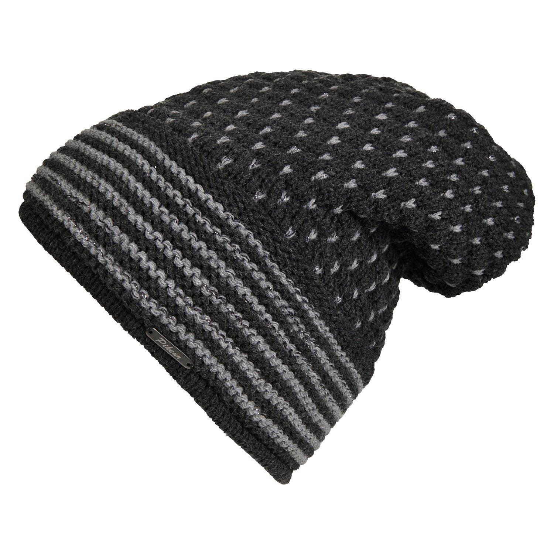 Pikeur Beanie-Mütze mit Lurexeinwebung anthracite | 53-55