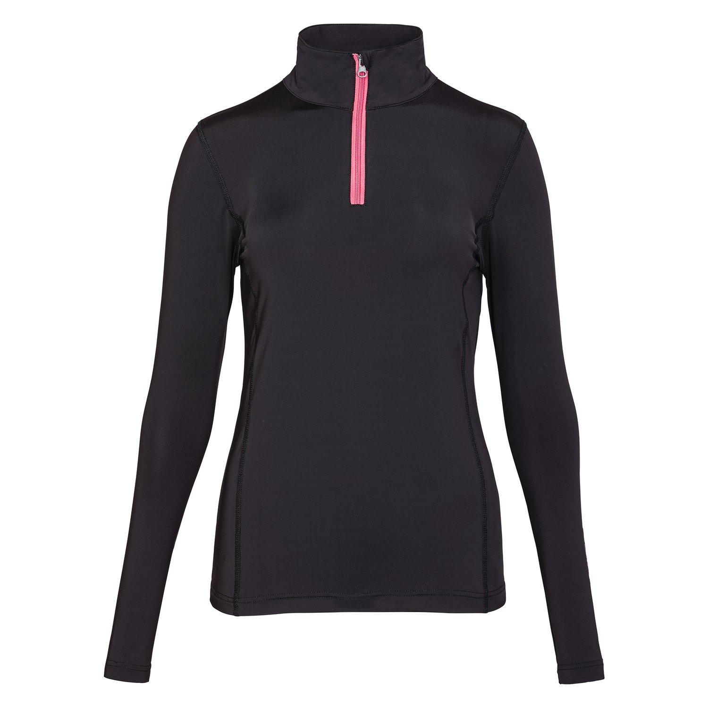 black forest Funktionsshirt mit Zipper black bean | XXS