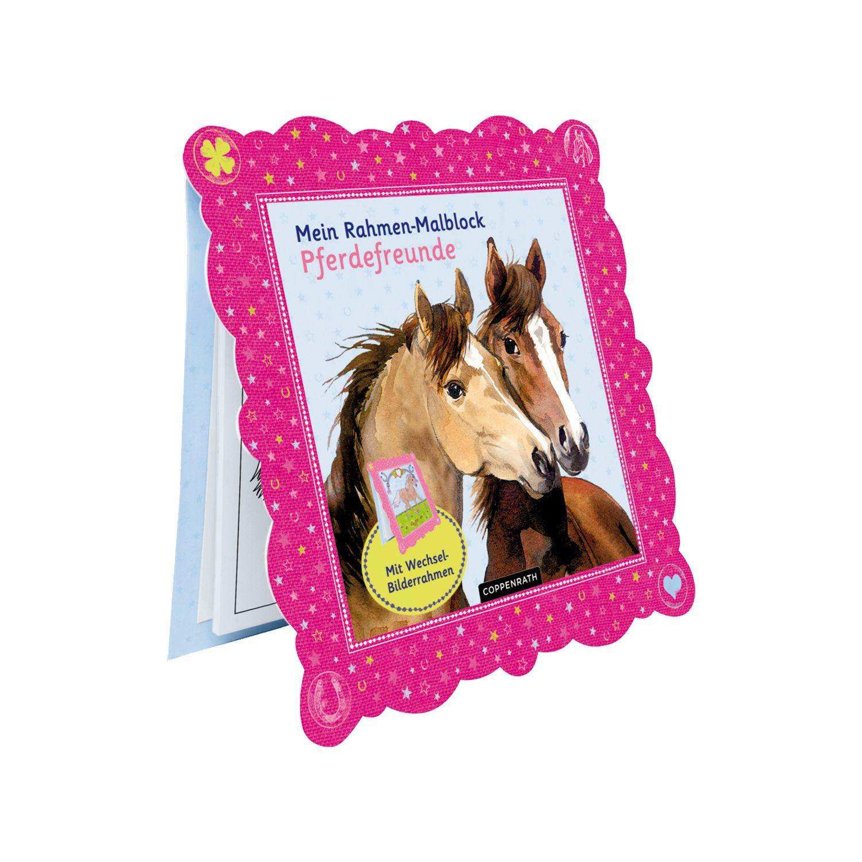 Die Spiegelburg Pferdefreunde Rahmen-Malblock