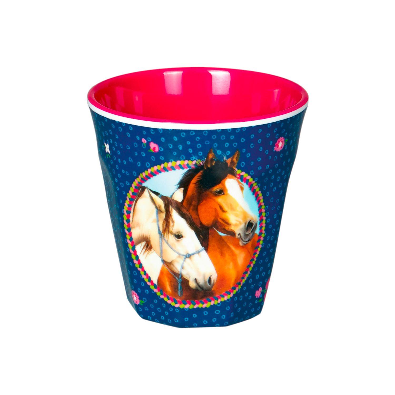 Melamin-Becher Pferdefreunde
