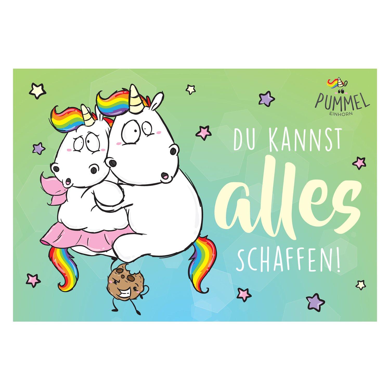 pummeleinhorn grußkarte  für den kindergeburtstag