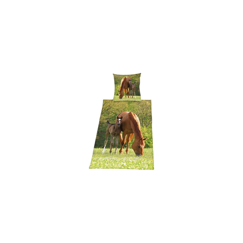 HERDING Fotobettwäsche Stute mit Fohlen