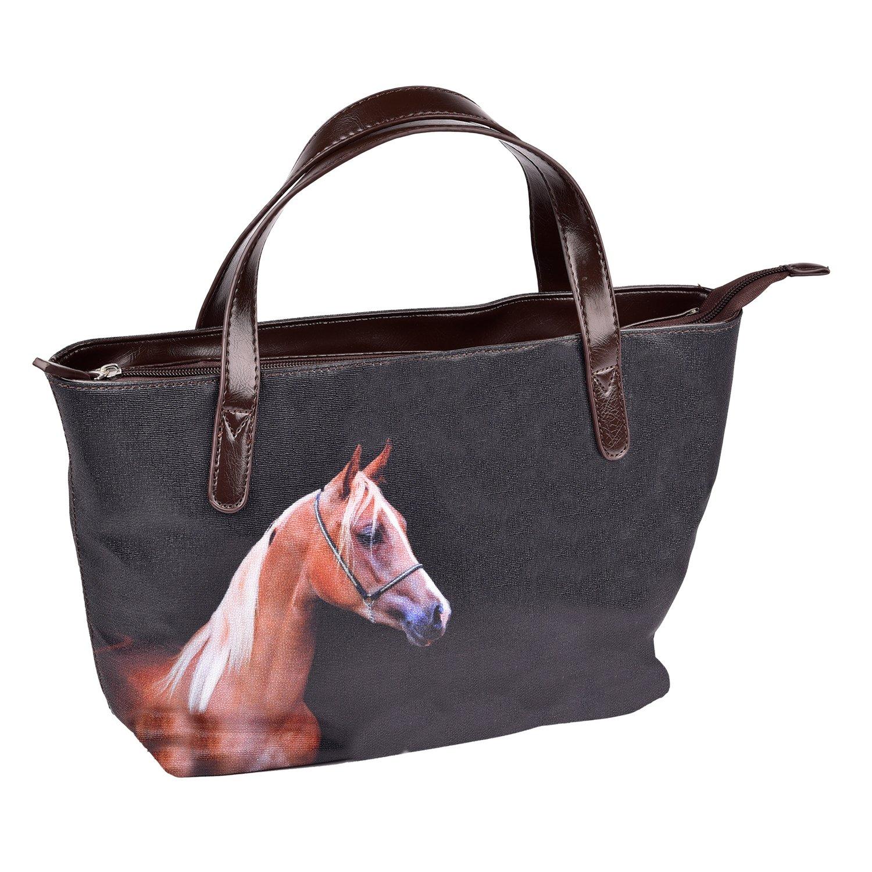 waldhausen handtasche mit pferdemotiv taschen geldbeutel loesdau passion pferdesport. Black Bedroom Furniture Sets. Home Design Ideas