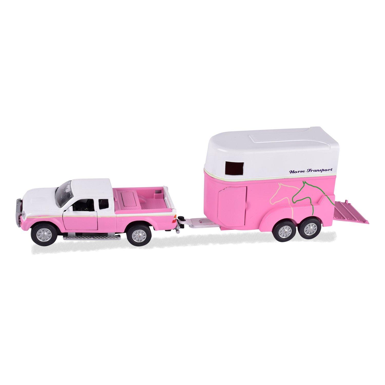 Spiel-Set Pferdetransporter rosa