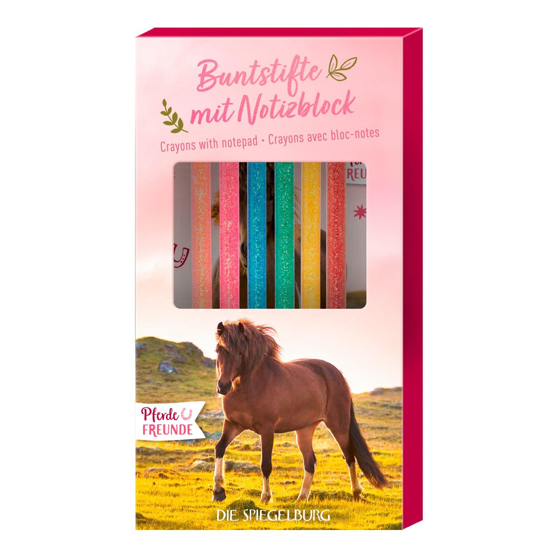 Spiegelburg Buntstifte mit Notizblock Pferdefreunde, Die Spiegelburg