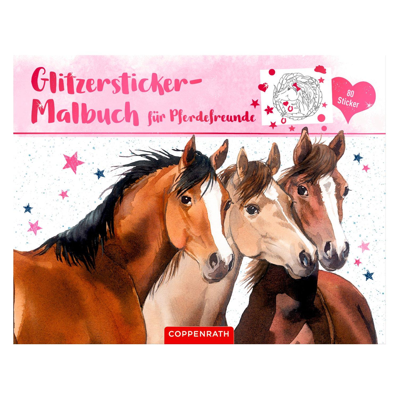 DIE SPIEGELBURG Glitzersticker-Malbuch Pferdefreunde