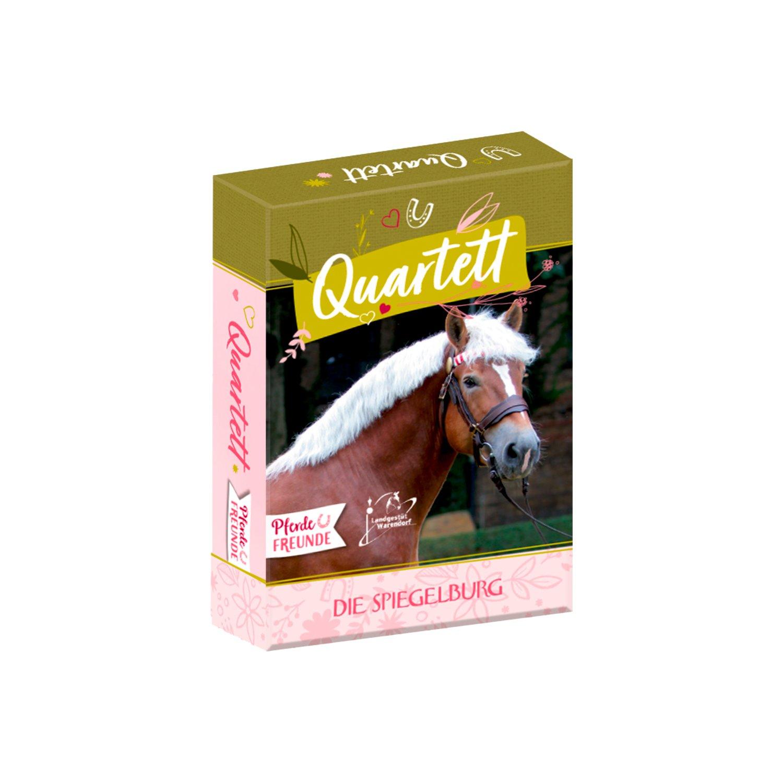 DIE SPIEGELBURG Kartenspiel Quartett Pferdefreunde