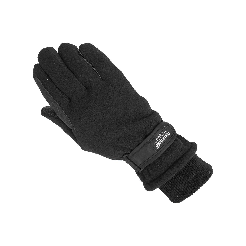 Fleece-Thinsulate-Reithandschuhe schwarz | S