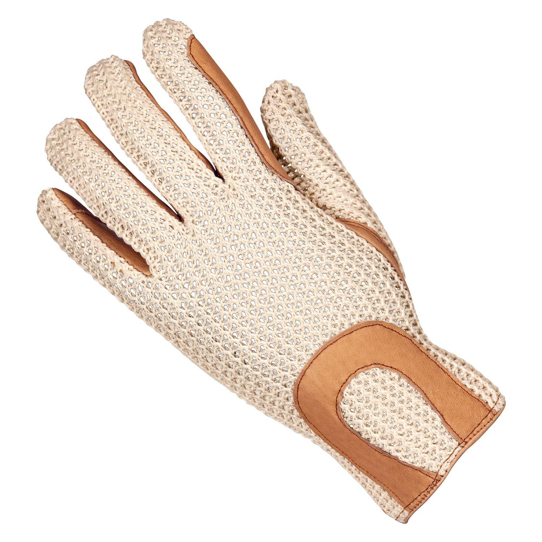 Strick-Lederhandschuh Kombi