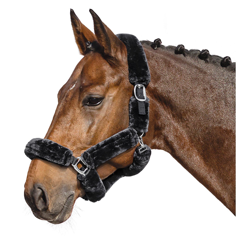 Halfter Faux Fur Barcelona schwarz | Pony