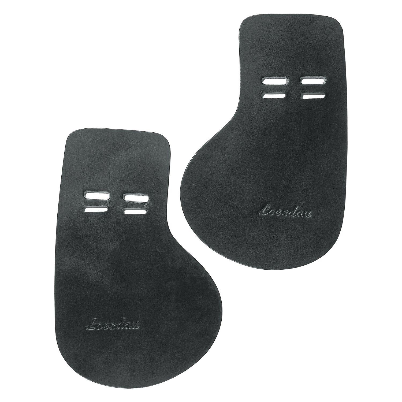Loesdau Sattelgurt-Schnallenschutz aus Leder schwarz | WB