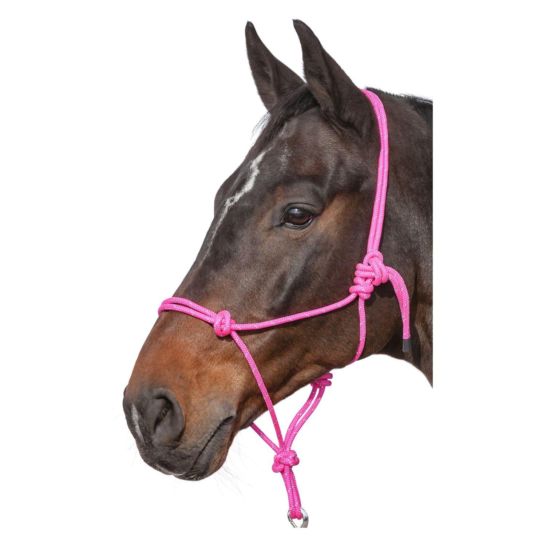 L-pro West Knotenhalfter Reflex hot-pink | Vollblut