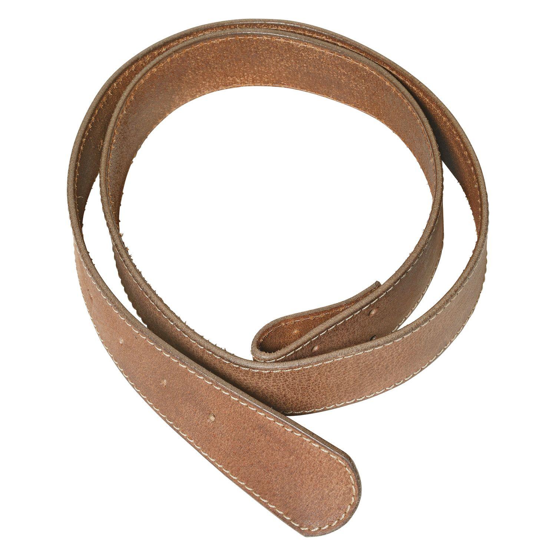 Gürtelleder 'Soft' braun | 100 cm
