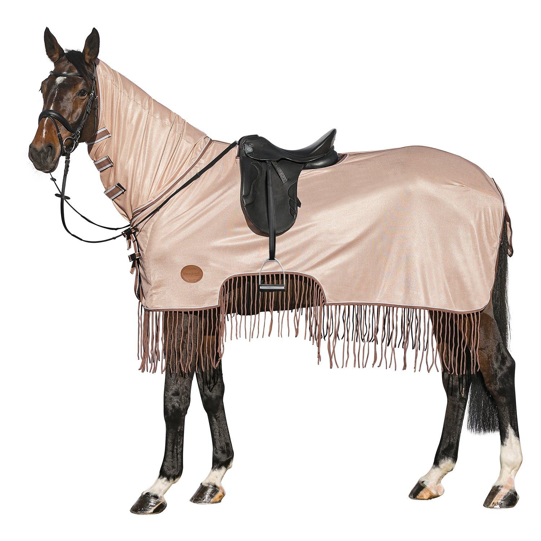 Horse-friends Fliegen-Ausreitdecke mit Fransen pearlbeige | 165 cm