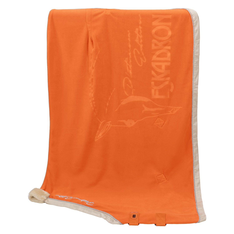 ESKADRON Platinum Abschwitzdecke Fleece Wide Binding orange | 135 cm