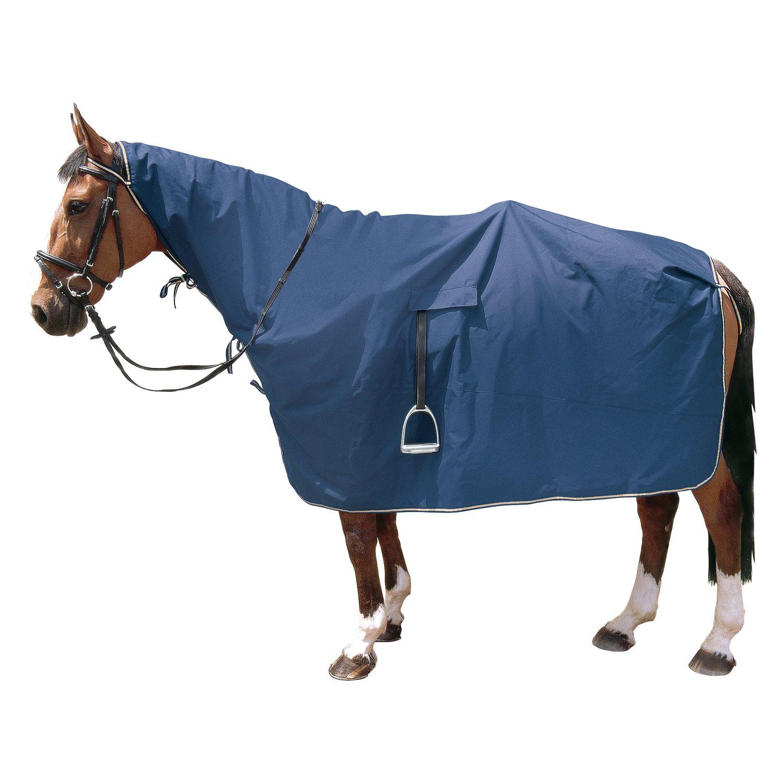 Horse-friends Regen-Ausreitdecke mit Steigbügelausschnitt