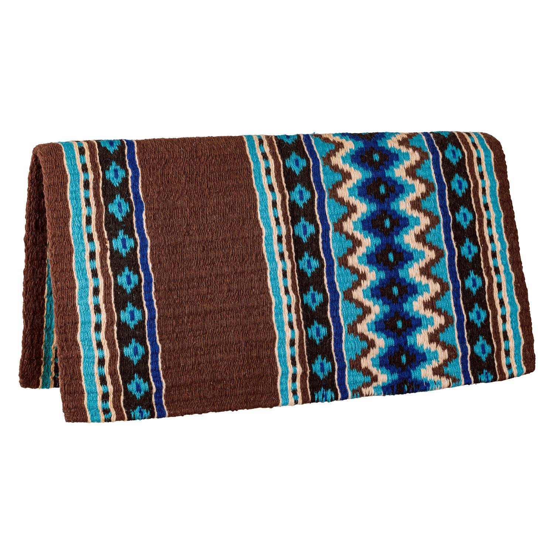 L-pro West Western-Blanket Nashville braun/türkis | 34 Zoll X 36 Zoll