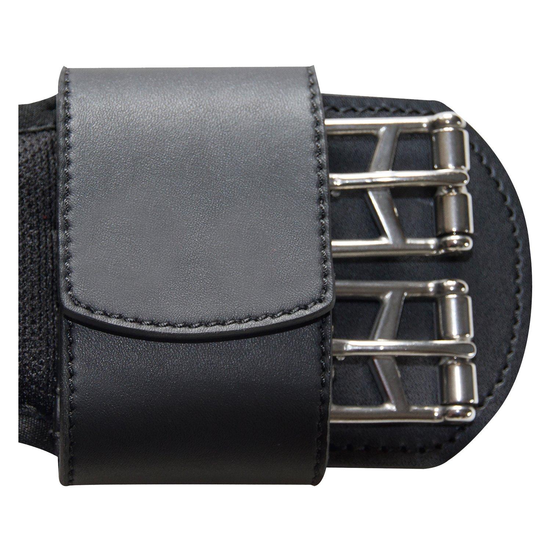 Sattelgurt schwarz gepolstert Kurzgurt Langgurt 35-165cm Metall Rollschnallen