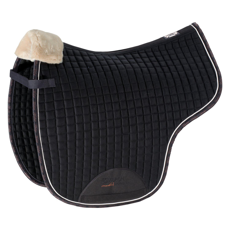 ESKADRON Heritage Satteldecke Faux Fur blackblue | Warmblut/Dressur