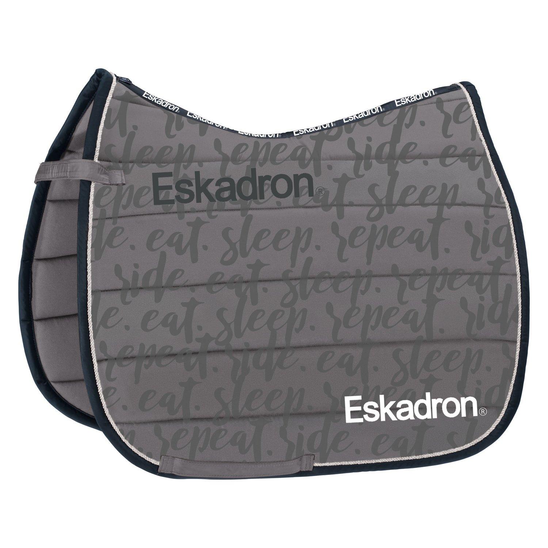 ESKADRON  R.E.S.R. Schabracke Polo Pad gray | Warmblut/Vielseitigkeit