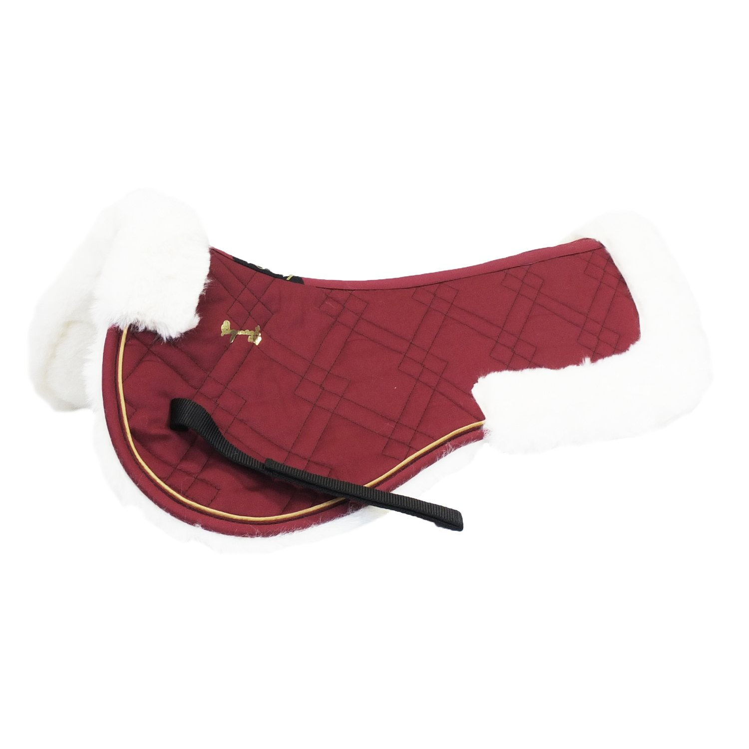 EQuest Sattelpad EQ Globe Illusion Fur bordeaux | Warmblut