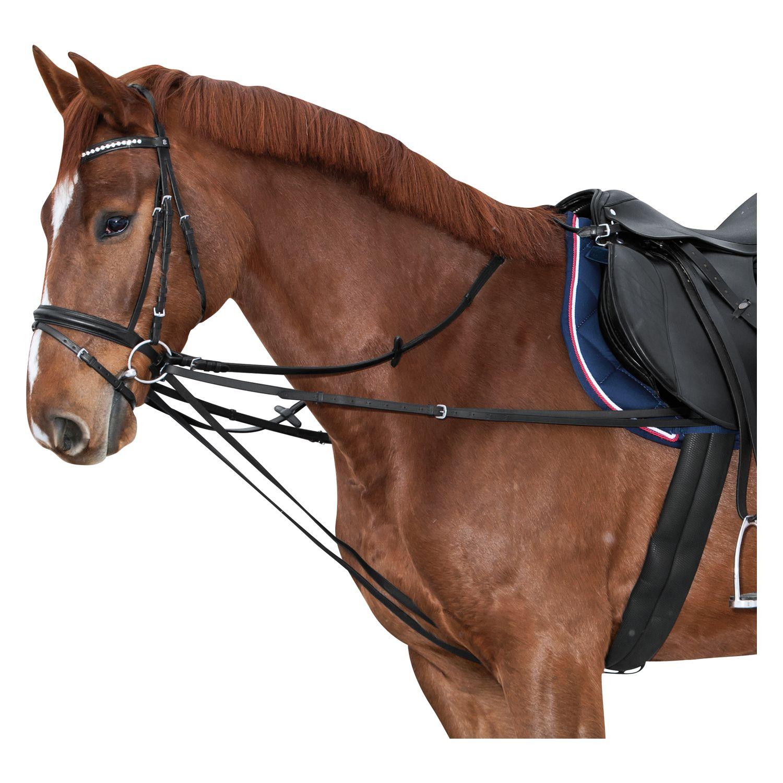 Laufferzügel Geteilter Wienerzügel, Für Ponys Schwarz