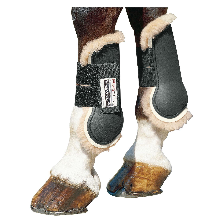 PROTECT by Horse-Friends Springgamaschen mit Lammfell, vorne