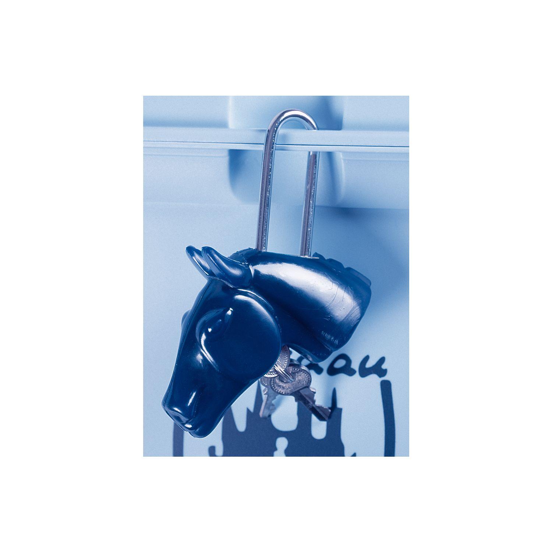 Schloss für Putzbox Pferdekopf blau