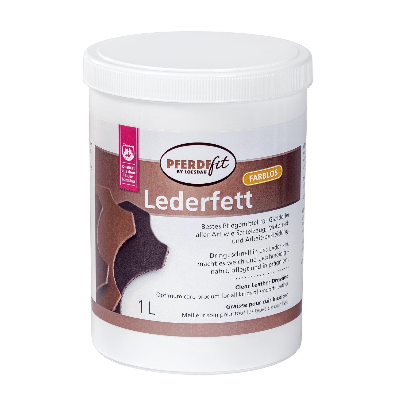 Loesdaus Pferdefit Lederfett farblos 1 Liter