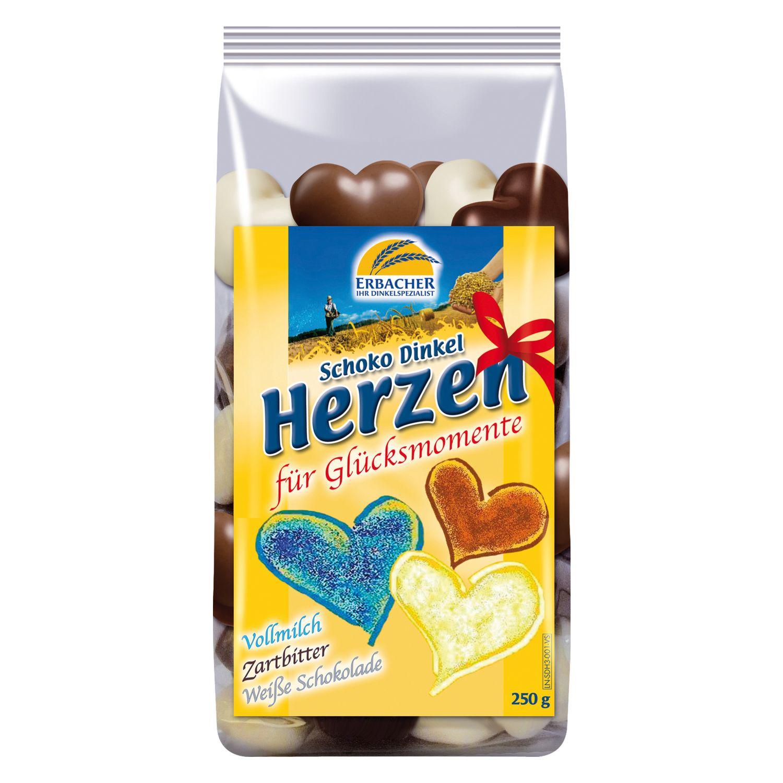ERBACHER Schoko Dinkel Herzen - Mischung 250 g