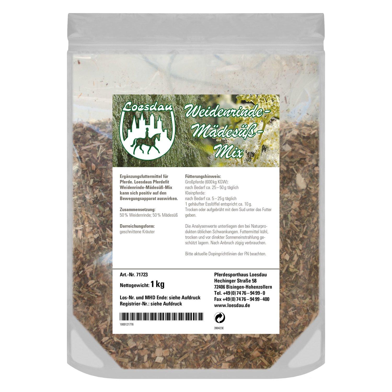 Loesdaus Pferdefit Weidenrinde, Mädesüß Mischung 1 kg