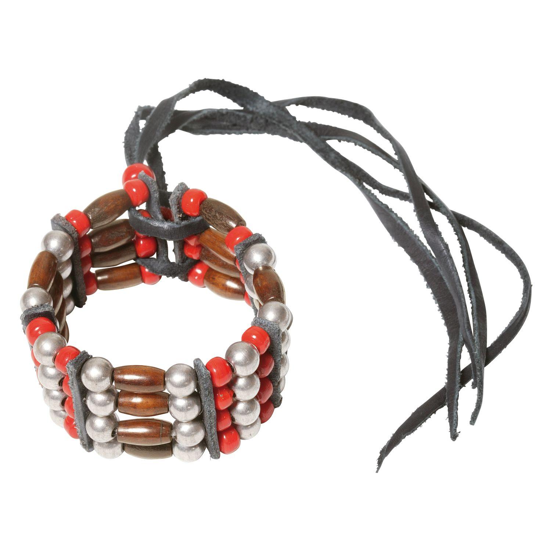 Armband 'Chokers' braun/rot