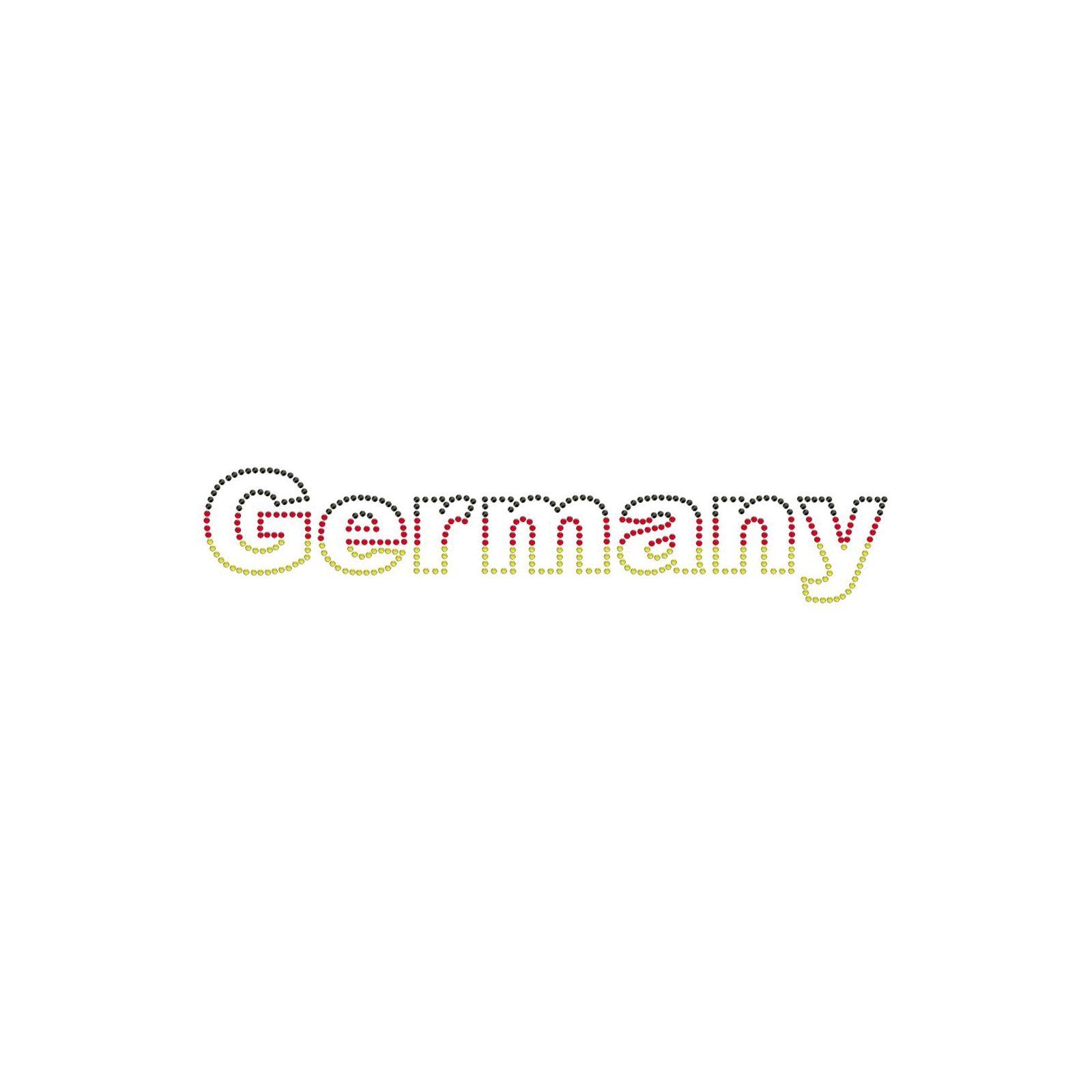 Bügelbilder - Motive aus Strass zum Aufbügeln 261 X 52MM | schwarz/rot/gold