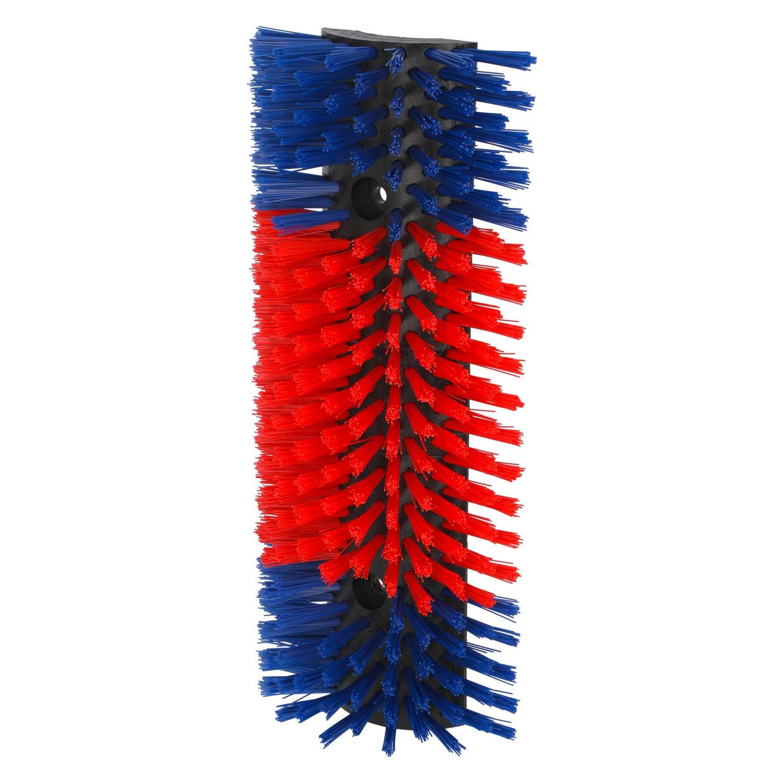 Halbrunde Kratzbürste blau/rot | normal