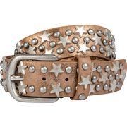 Gürtel mit Metallic-Look mit Sternen